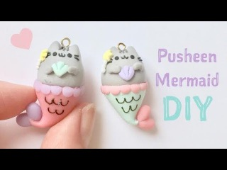 DIY Pusheen Mermaid Charm
