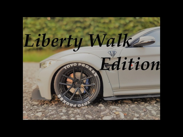 BMW КРУТОЙ ТЮНИНГ BMW M4 Liberty Walk Perfomence 1 18 от GT SPIRIT