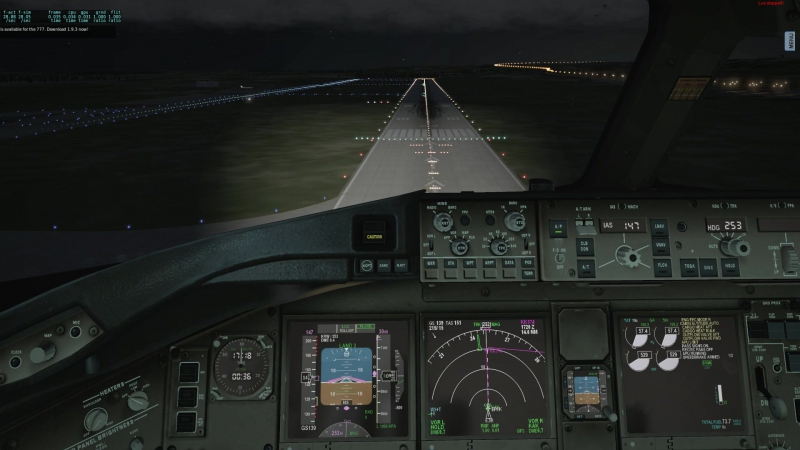 X-PLANE 10 EPKK Approach and landing Boeing 777-200ER