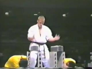 Dolph lundgren at 5th world kyokushin karate tournament (1991) demo