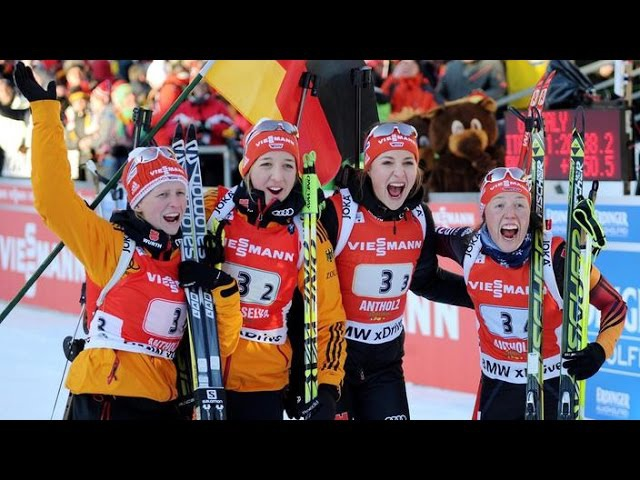 Wind Staffel Frauen Antholz 25 Januar 2015