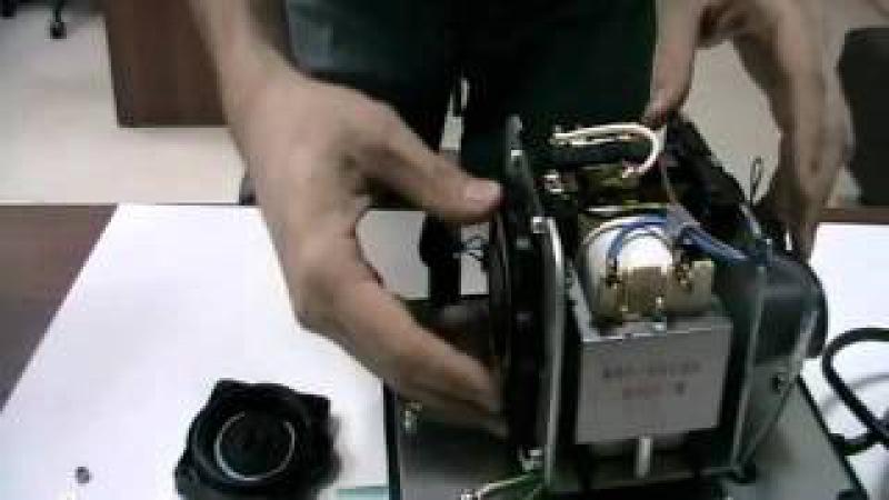 Мембранный компрессор HIBLOW Замена мембраны 03