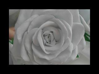 пышная роза из  фоамирана