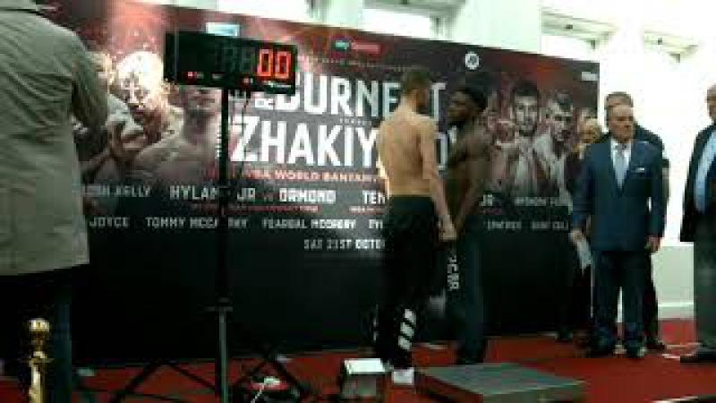 Ryan Burnett vs Zhanat Zhakiyanov WBA IBF Championship Weigh in