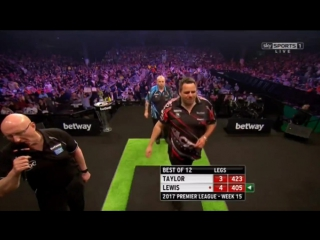 Phil Taylor vs Adrian Lewis (2017 Premier League Darts / Week 15)