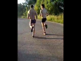 Пробежка в 5 утра в трусах