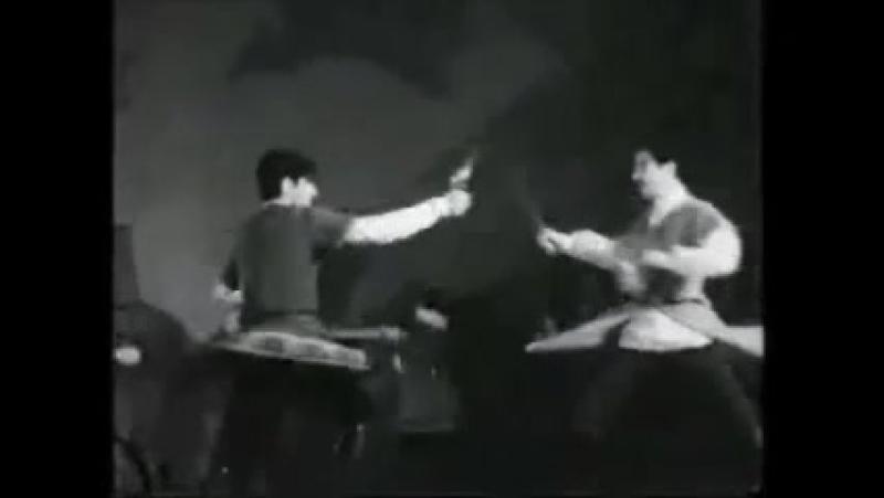 1969 г Польша Танец Соревнование Соло Ахшар Цахилов и Герой Созаев