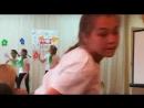 Алсу, Риана, Маша, Аделя и Индира танцуют.Арина гимнастический танец