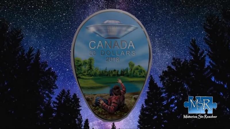 Nachricht auf kanadischer Münze Eine unheimliche Begegnung