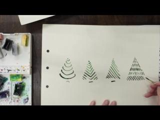 рисуем елочку - 4 варианта
