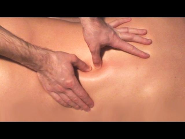 Массаж спины Видео урок массажа спины в домашних условиях Video tutorial back massage at home