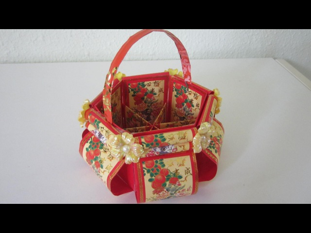 CNY TUTORIAL NO 12 Chinese New Year Red Packet Hongbao Floral Basket