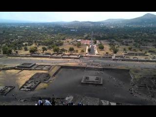 Теотиуакан, пирамида Солнца. Teotihuacan, La Pirámida del Sol
