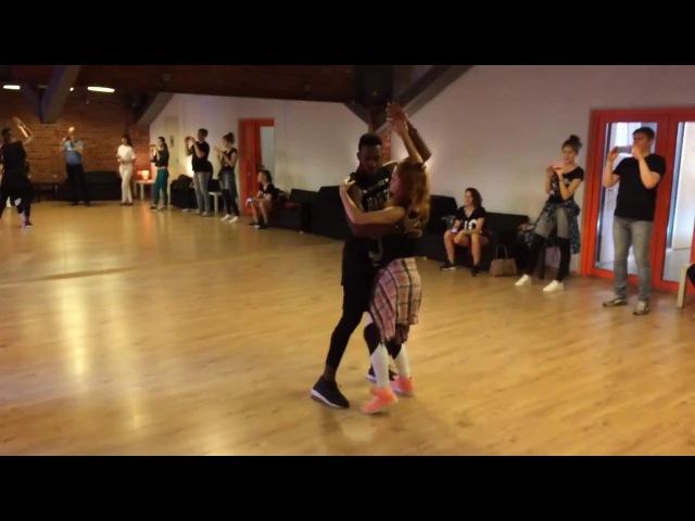 Adonis Santiago Nadezhda Mesheryakova Timba in couple Salsa Plus in St. Petersburg