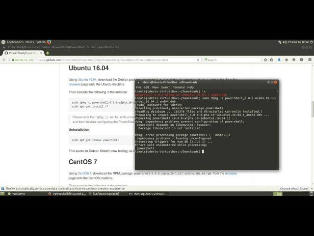 Как установить Microsoft PowerShell на Ubuntu MATE 16.04.1 LTS (Xenial Xerus)