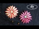 DIY Цветы из атласной ленты 1,2см. МК канзаши / DIY Flowers from satin ribbon 1.2cm (English subs)