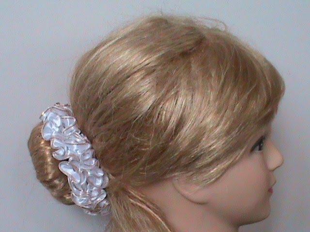 DIY МК Как сделать резиночки на пучeк волос для девочек и девушек