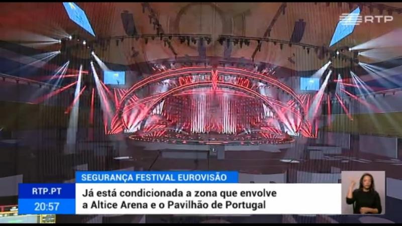 Montagens técnicas para a Eurovisão condicionam zona envolvente da Altice Arena