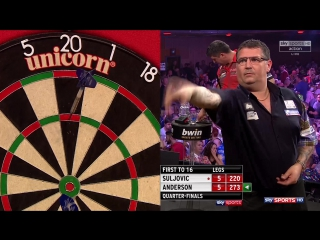 Mensur Suljović vs Gary Anderson (Grand Slam of Darts 2017 / Quarter Final)