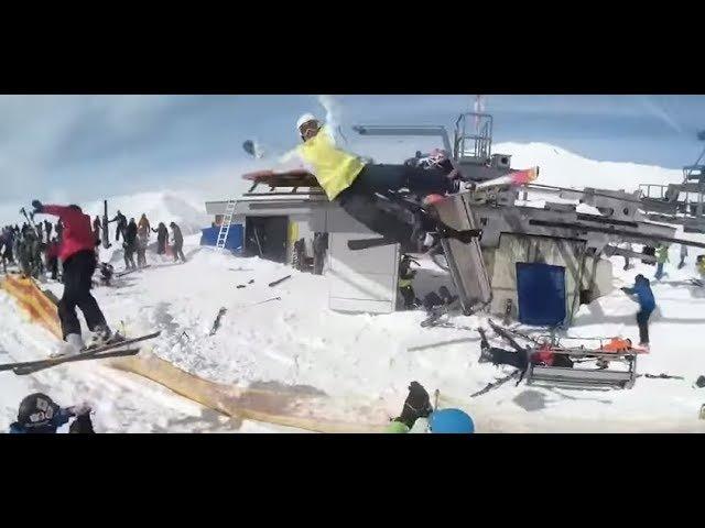 Авария на горнолыжном подъемнике 16.03.18 Гудаури, Грузия ski lift accident