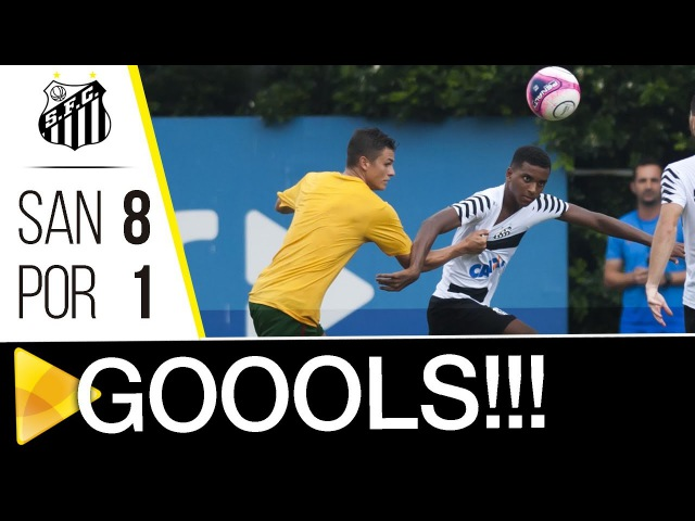 Santos 8 x 1 Portuguesa Santista GOLS Jogo treino 11 01 18