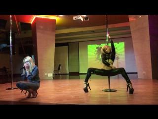 Лена Кабзон и Новикова Татьяна - Catwalk Dance Fest IX pole dance, aerial