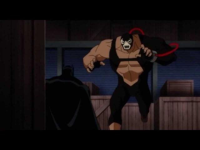 Batman versus Bane-Justice League Doom