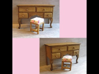 1/12th Scale Dressing Table & Stool Tutorial