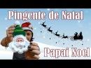 Papai Noel de Crochê - Pingente de Natal - Modelo 2