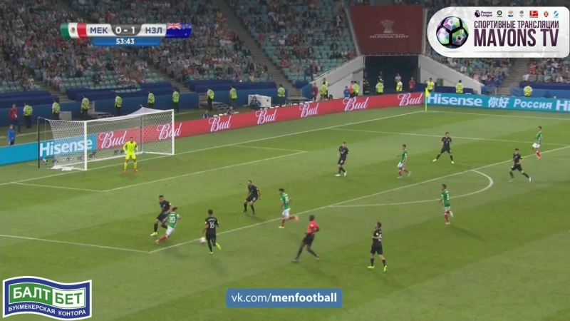 Мeксика - Новaя Зелaндия 1-1 Рaуль Химeнес (21.06.17)