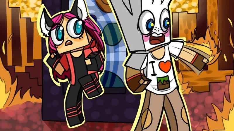 [DILLERON ★ Play] ч.18 ПОРТАЛ В МИР ОГНЯ!! КАК НЕ СГОРЕТЬ ЗАЖИВО - Minecraft Страшные приключения