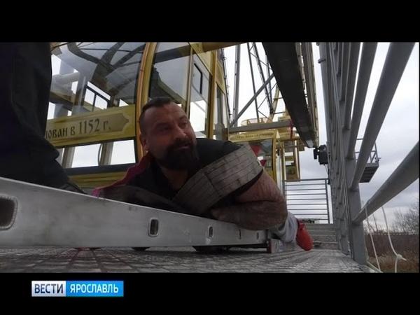 Прокрутить колесо обозрения с помощью троса ярославский спортсмен Михаил Савин готовит новый трюк