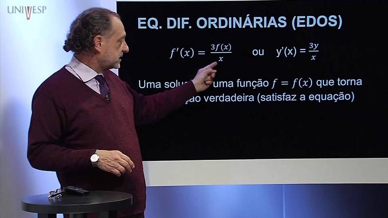Cálculo III Aula 11 Introdução ao estudo de equações diferenciais ordinárias