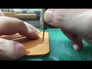 Hand Stitching Leather _ Part 1 _ Leather Craft _ Saddle Stitch