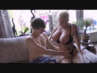 German mom loves to fuck with young boy