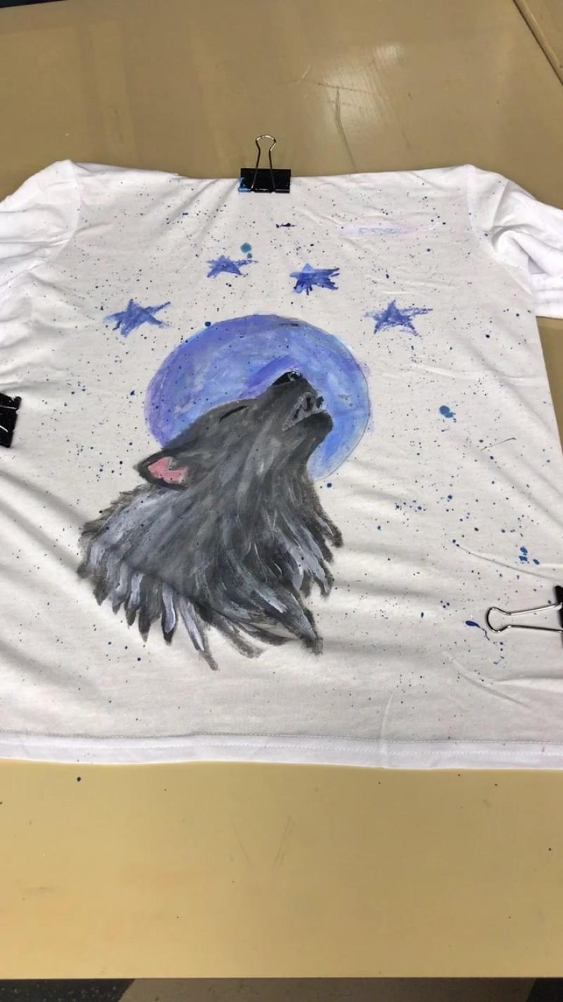 МК рисование на футболках
