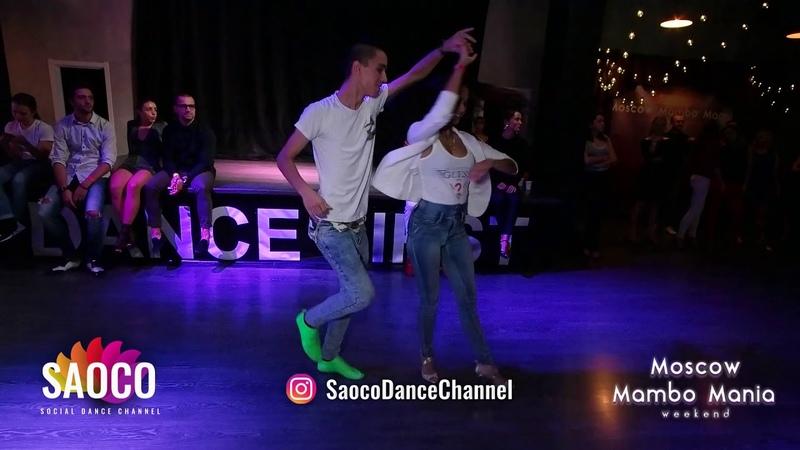 Bejan Kanoat and Tania Cannarsa Salsa Dancing at Moscow MamboMania weekend, Friday 26.10.2018
