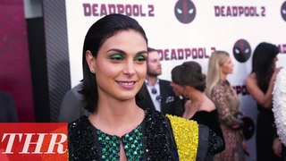 Morena Baccarin on 'Deadpool 2' Premiere Red Carpet   THR