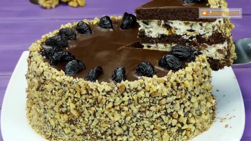 """Добавки на всех не хватит! Торт """"Чернослив в шоколаде"""" – изумительно вкусный десерт"""