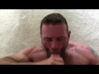 Straight married daddy eats my cum load