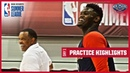 Gentry Tries to Swat Zion at the Pelicans' 1st Summer League Practice 2019 NBA Summer League