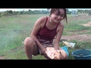 Wow Amazing Cute Girl Roasting Chicken How to Roast Chicken Chicken Food in my Country