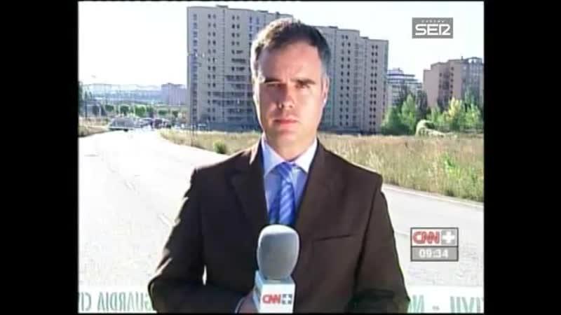 Atentado ETA Burgos 29 julio 2009 CNN - Explota una furgoneta bomba en una casa cuartel de la Guardia Civil Burgos Cadena Ser