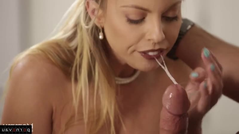 Britney Amber [ Blow job &  Mothers / Old with young , Jerking off a guy , On the kitchen , Beautiful lingerie , Cumshot in mout