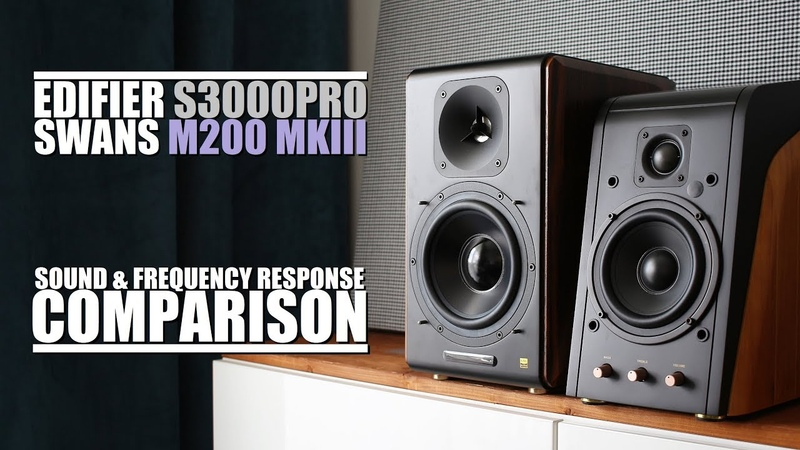 Edifier S3000Pro vs Swans M200 MKIII || Sound Frequency Response Comparison