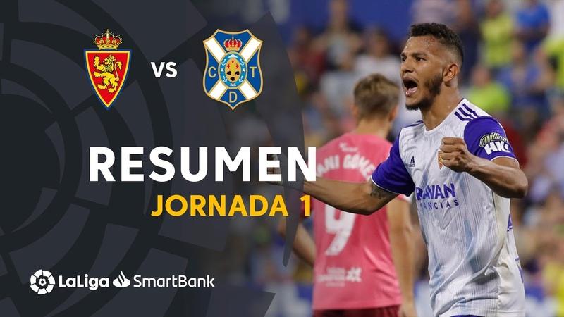 Реал Сарагоса - CD Тенерифе, 2-0, Сегунда 2019-2020, 1 тур