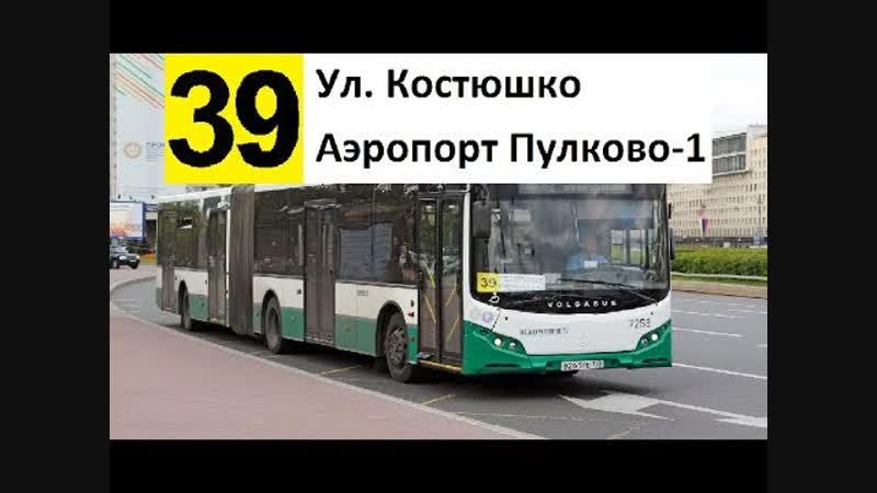 Автобус 39 Ул Костюшко аэропорт Пулково 1