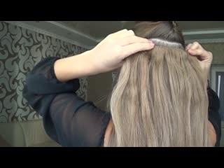 Волосы на заколках. Самостоятельное крепление