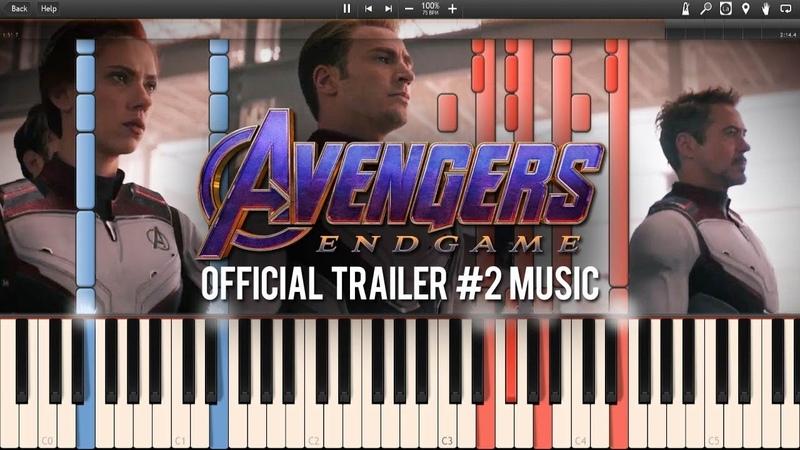 Avengers : Endgame Official Trailer Music/Trailer 2 Music (Synthesia Piano Tutorial)SHEETSMIDI