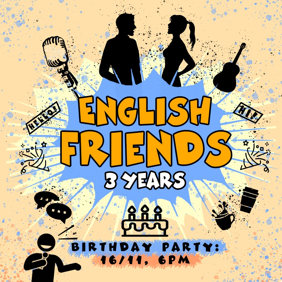 Афиша Воронеж ENGLISH FRIENDS / 3 YEARS